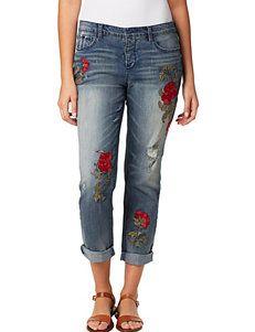 363a571e38a Vintage America Blues Plus-size Gratia Floral Embroidered Jeans ...