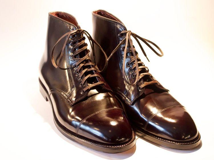 Alden naval boot 4060H Shell Cordovan color 8
