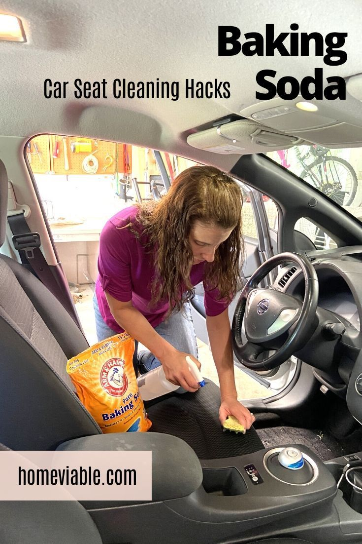 How to clean car seats with baking soda in 2020 clean