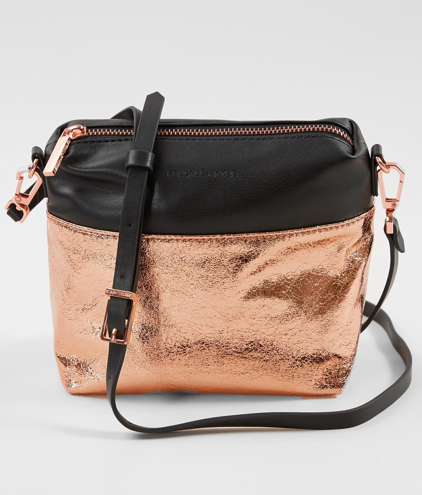 KENDALL + KYLIE Callie Foiled Crossbody Purse - Women s Accessories in  Copper Foil Fabric  82ae649311774