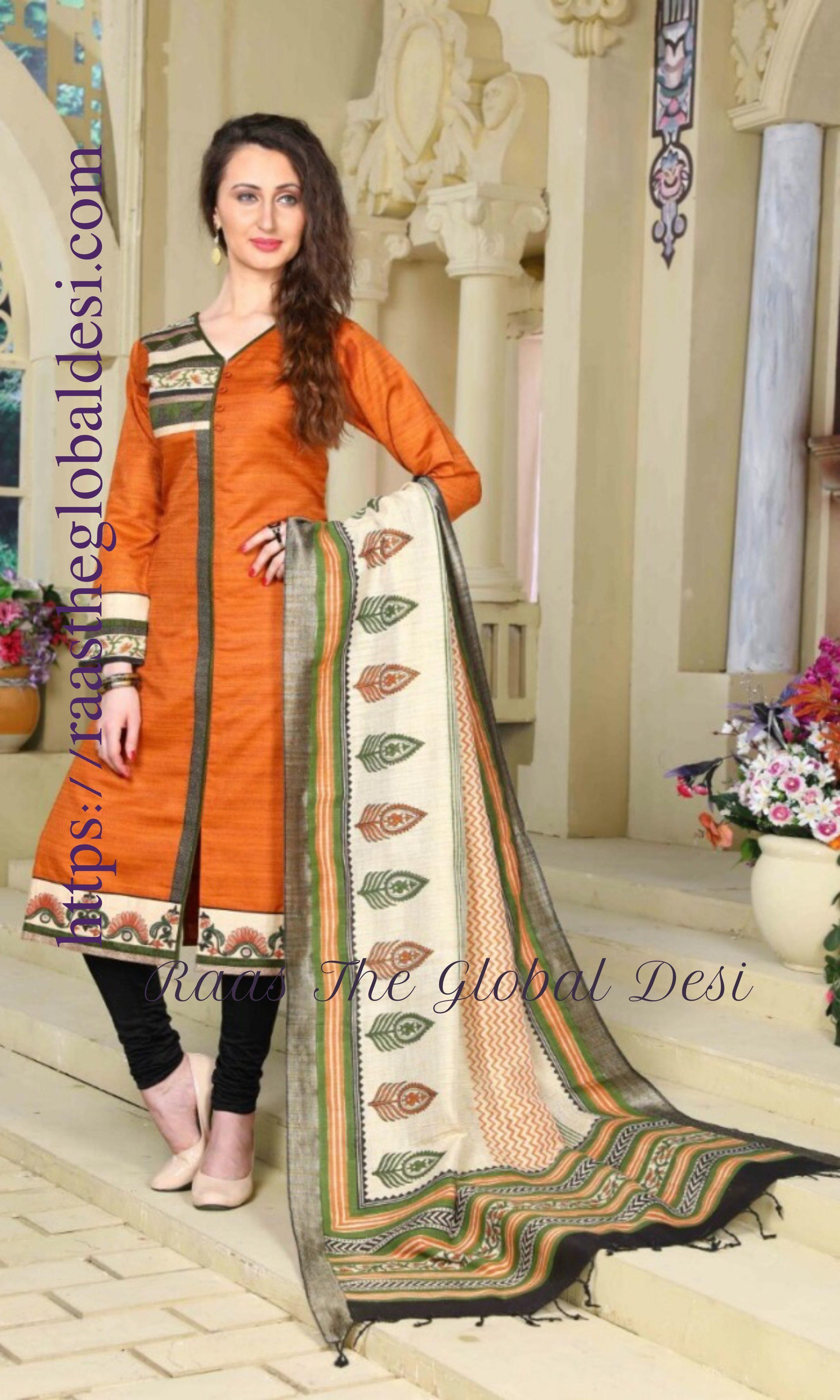 cotton kurta with embroidery with matiching bottom and kora silk dupatta Note: Color may slightly vary due to digital photography.