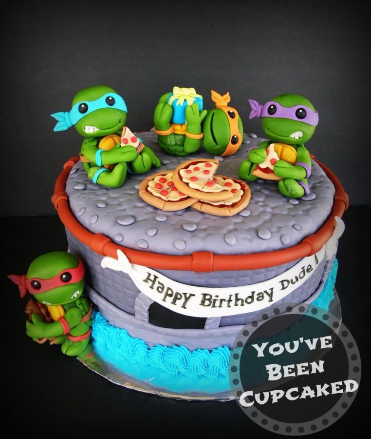 Heroes In A Half Shell Tmnt Cake Ninja Turtle Cake Cake