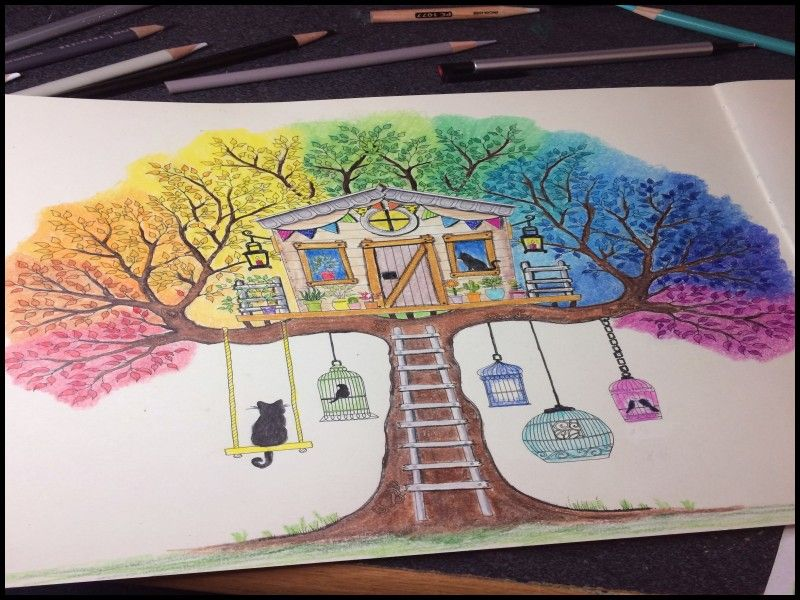 Luxury How To Use Watercolor Colored Pencils Forest Coloring