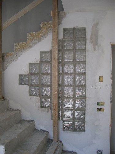 Vetro cemento casetta pinterest cemento mobili fai - Mattoni vetrocemento per doccia ...