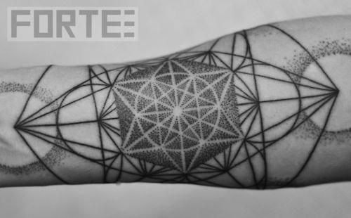 Geometric Tattoos Portland: I Did This Blackwork, Dotwork, Sacred Geometry Tattoo At