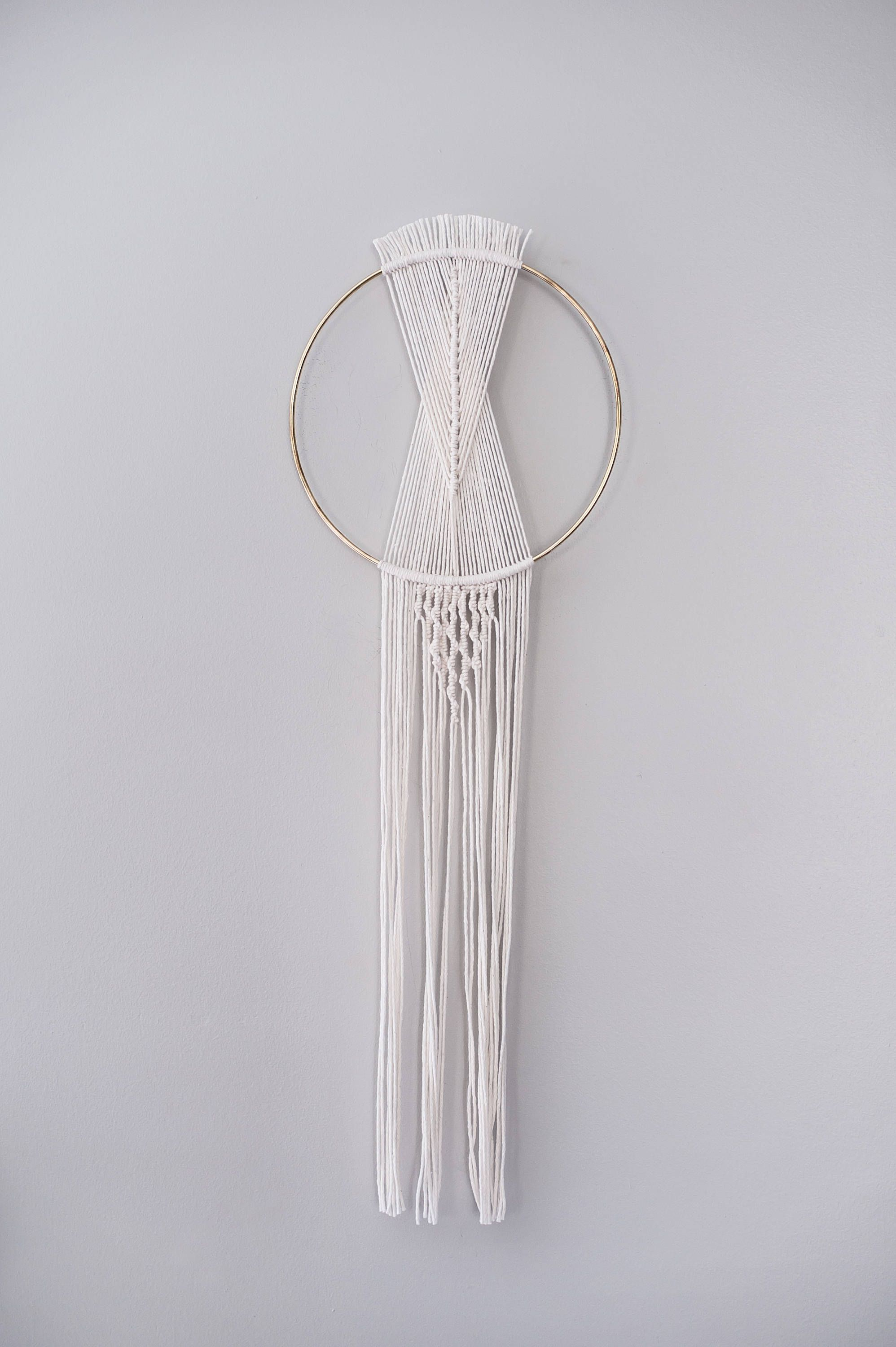 Modern Dream Catcher Macrame Dreamcatcher On 10 Gold Hoop Boho Home Decor