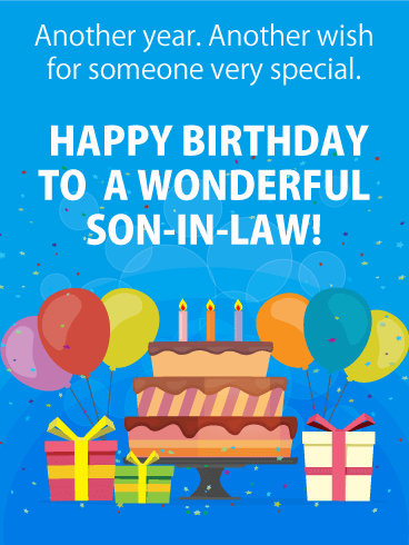 Happy Birthday Son In Law Images : happy, birthday, images, Wonderful, Son-in-Law, Happy, Birthday, Greeting, Cards, Davia, Wishes, Quotes