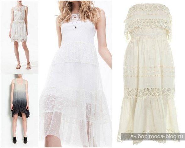 Кружевные платья для шитья
