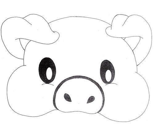 Molde Mascara Porquinho Artesanato Mascara De Porco Mascaras