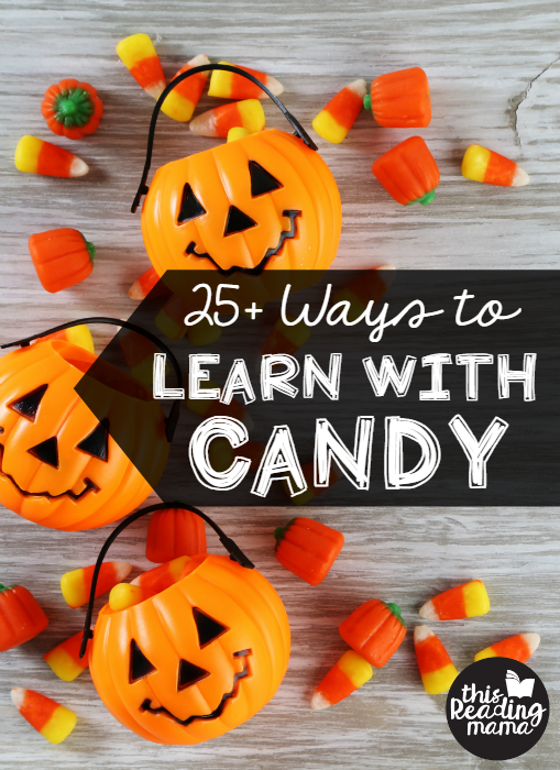Do you have a lot of left over candy from Halloween? Here are 25+ ways you can learn with candy!
