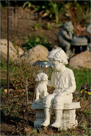 Superior Boy And Dog Statue   Bing Images