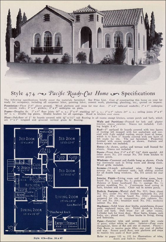 Design No. 474 from Pacific\'s Book of Homes — Pacific Ready Built ...