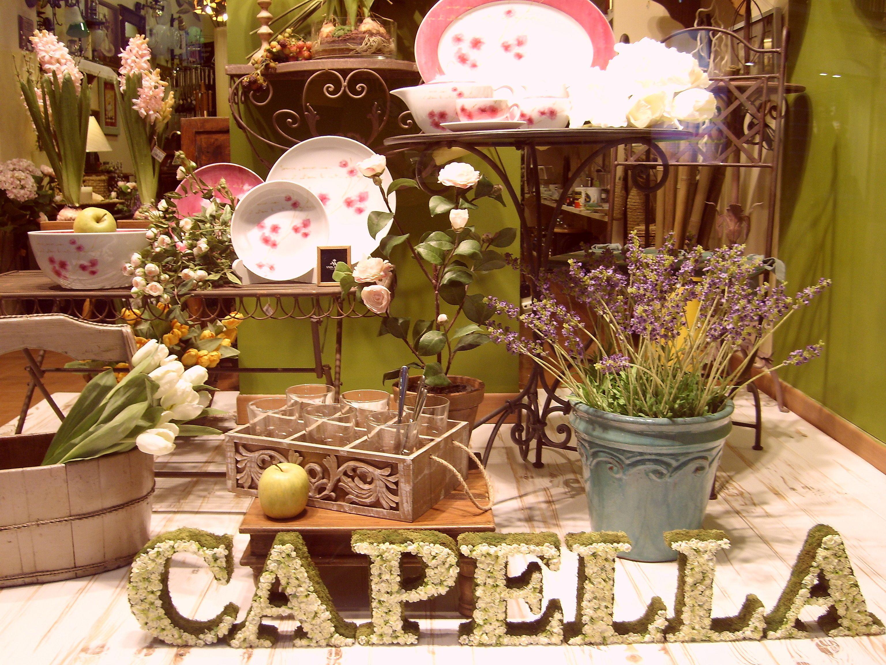 Escaparate CAPELLA Decoración mayo 2008 www.capelladecoracion.com