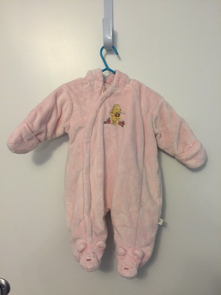 "543b48ee4 Infant Girl's DISNEY ""Classic Winnie the Pooh"" Pink Bunting SNOWSUIT  Newborn #Disney #Snowsuit"