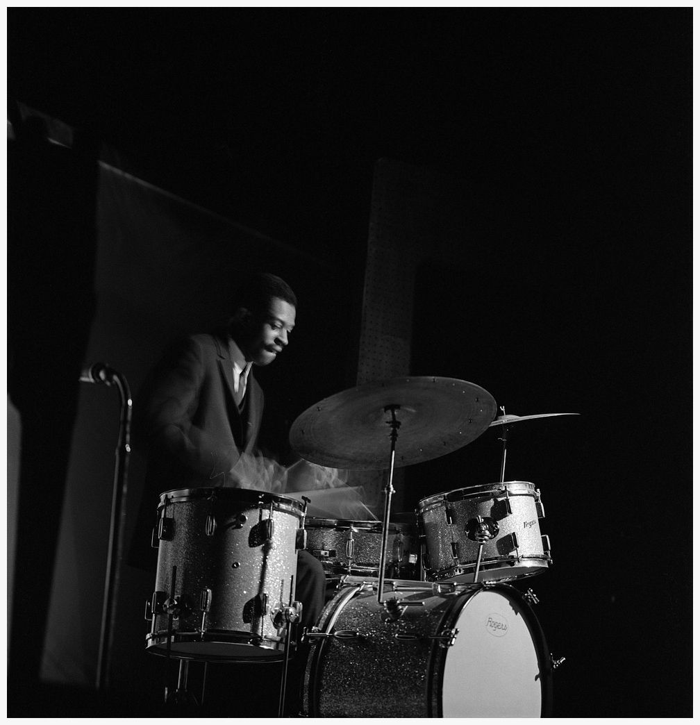 Louis Hayes Sticks In Motion Bird House Chicago Il Sept 1961 Rogers Drums Blues Musicians Jazz Musicians