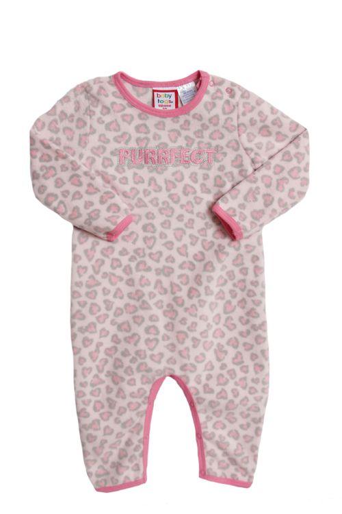 a4cf2ceb3371 Baby Togs Newborn Girls (3-9 months) Pink leopard print polar fleece ...