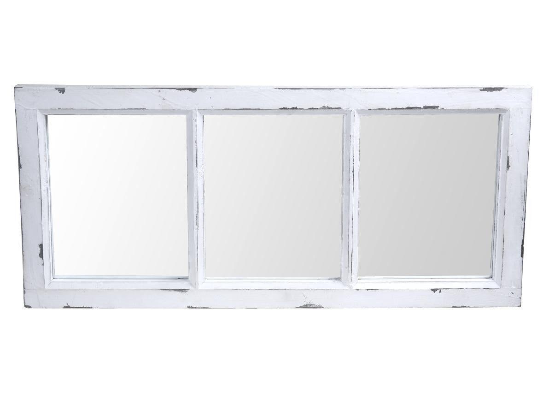 Peili ikkunakehys 40x90 cm, antiikinvalkoinen