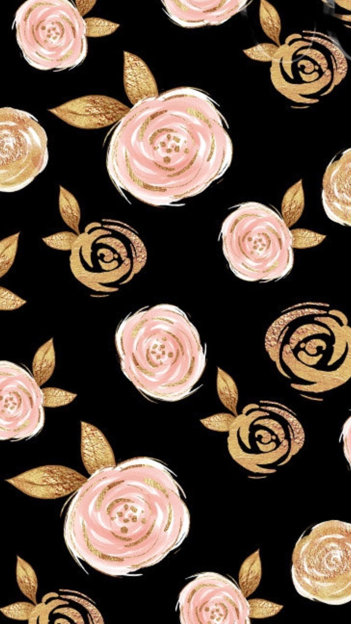 Iphonewallpaper Iphonebackground Wallpaper Background Roses Blackandgold Flowers Vintage Flowers Wallpaper Gold Wallpaper Background Rose Gold Wallpaper