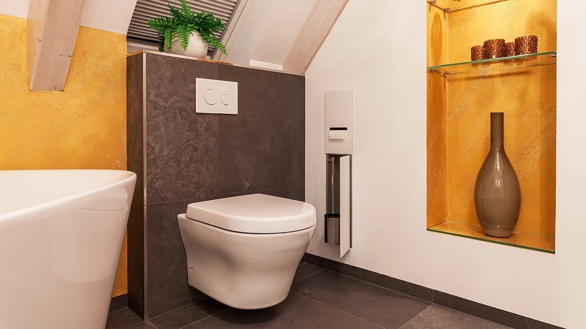 Heimwohl Badezimmer Badezimmer Wandnischen Glasregal
