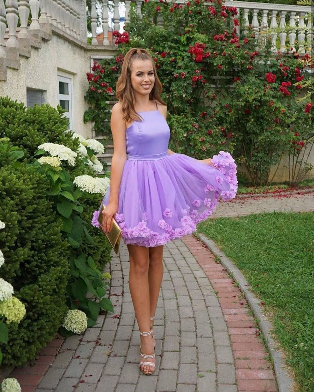 New The 10 Best Hairstyles With Pictures New Collection Akfashion By Ardiana Kukaj Purple Homecoming Dress Homecoming Dresses Prom Dresses Short