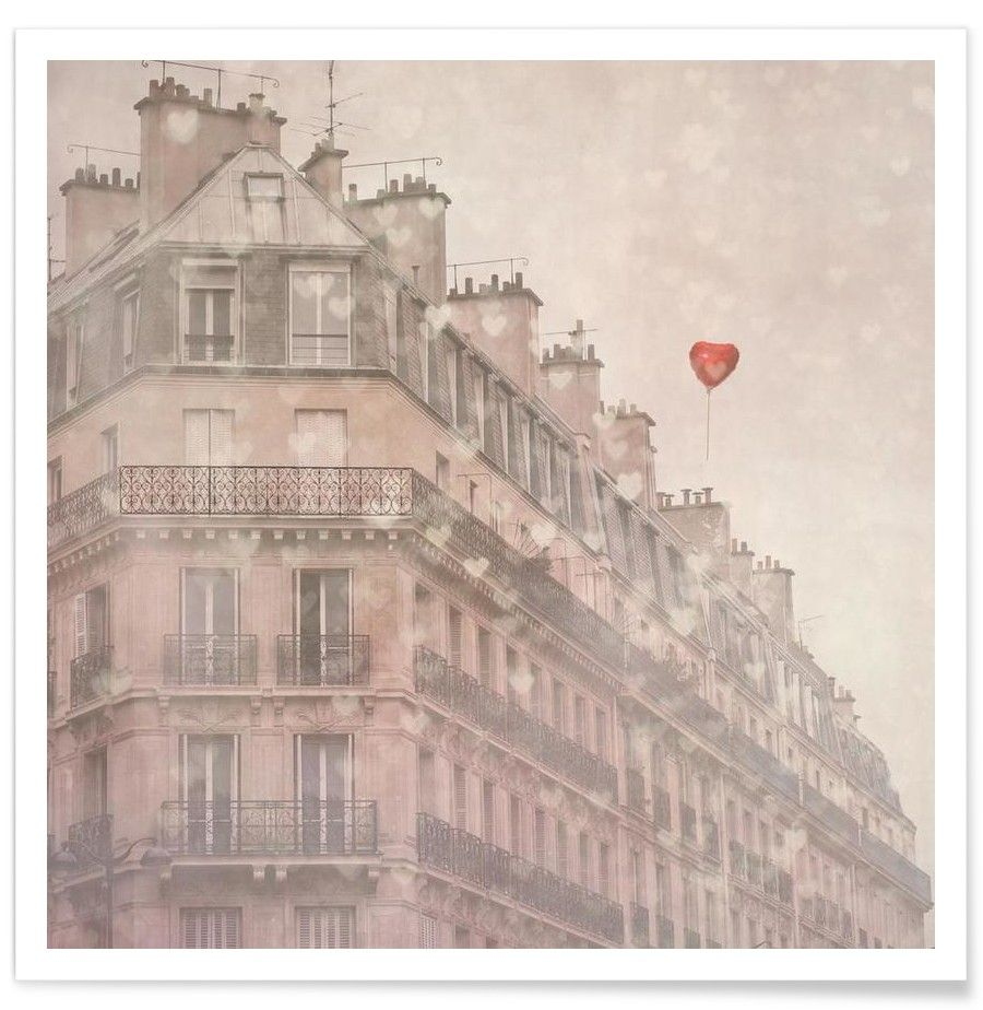 Heart Paris - Premium Poster