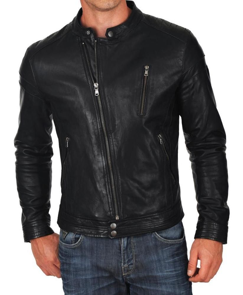 Boys Leather Bomber Jacket