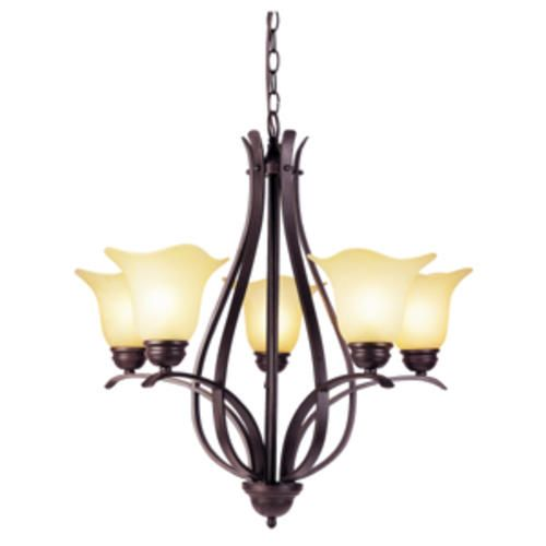 Adalynn 5 light 26 25 rubbed oil bronze chandelier at menards