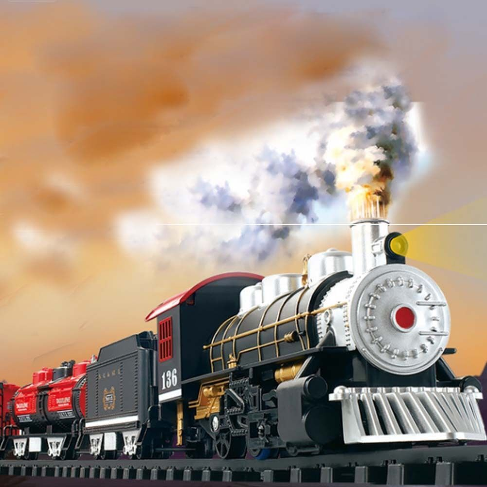 Educational car toys  x Railway Car Electric TrainBattery Operated Set Kids Educational