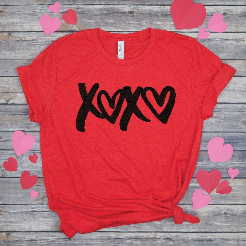 reputable site 98bf8 0a931 XOXO Shirt, Cute Valentine T-Shirt, Hugs and Kisses Tee ...