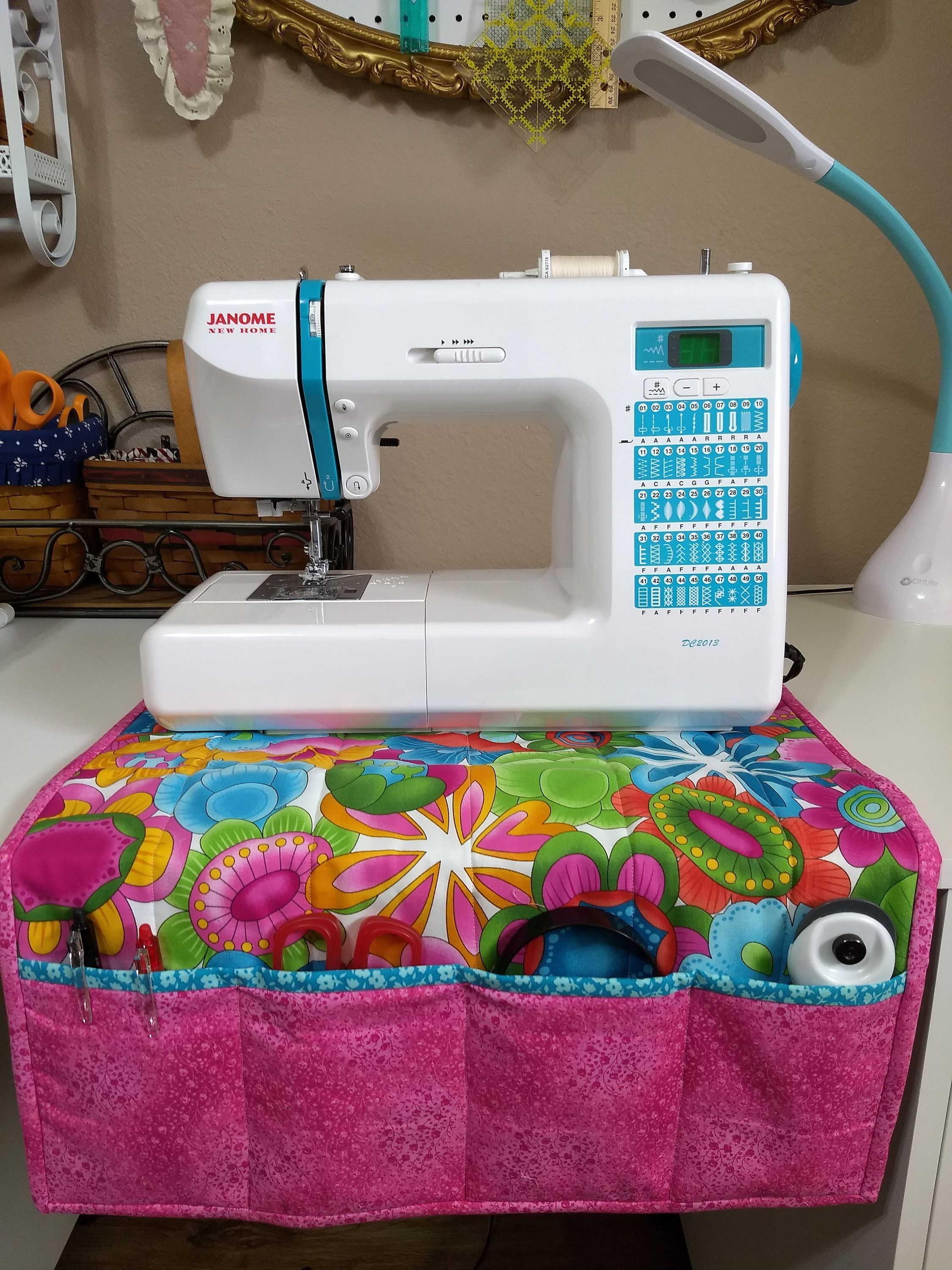 Free Room Design Tool: Sewing Machine Mat/ Organizer With 4 Tool Pockets By