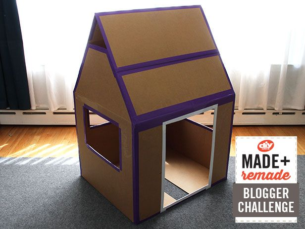 Make a kids fort from a cardboard box http blog for Things you can make out of a cardboard box