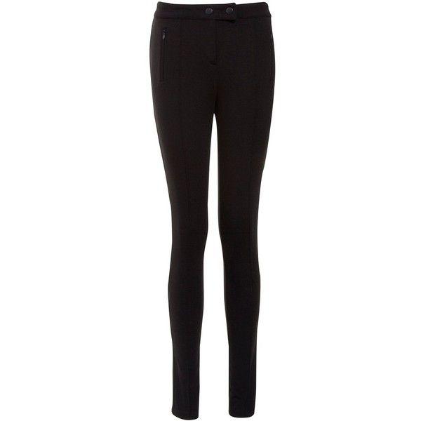Black Stretch Jersey Treggings ($7.78) via Polyvore