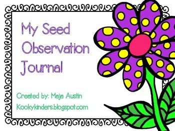 FREE! This is a simple seed observation journal. Students ...