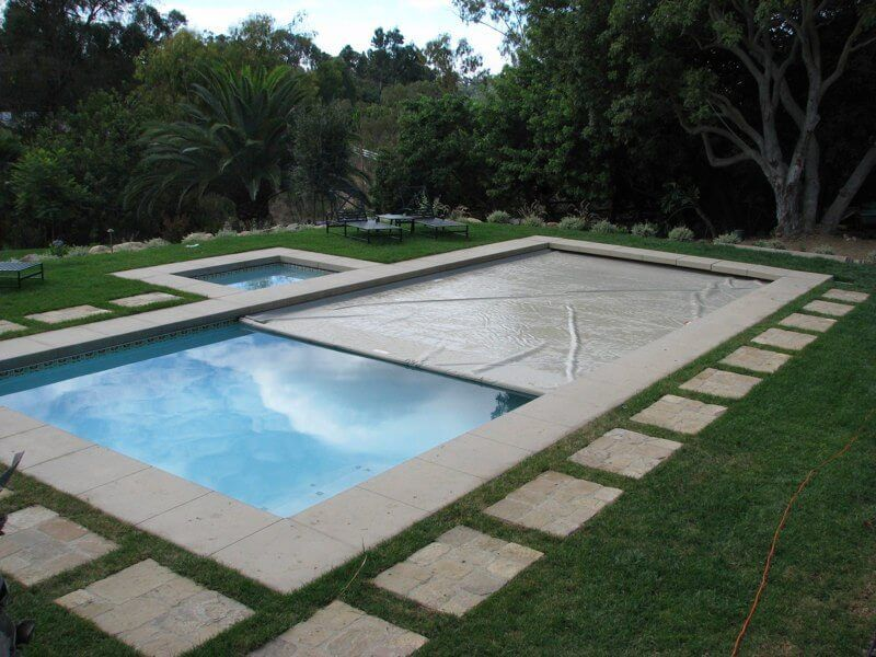 How To Close A Swimming Pool And Open A Hot Tub Automatic Pool Cover Pool Cover Pools Backyard Inground