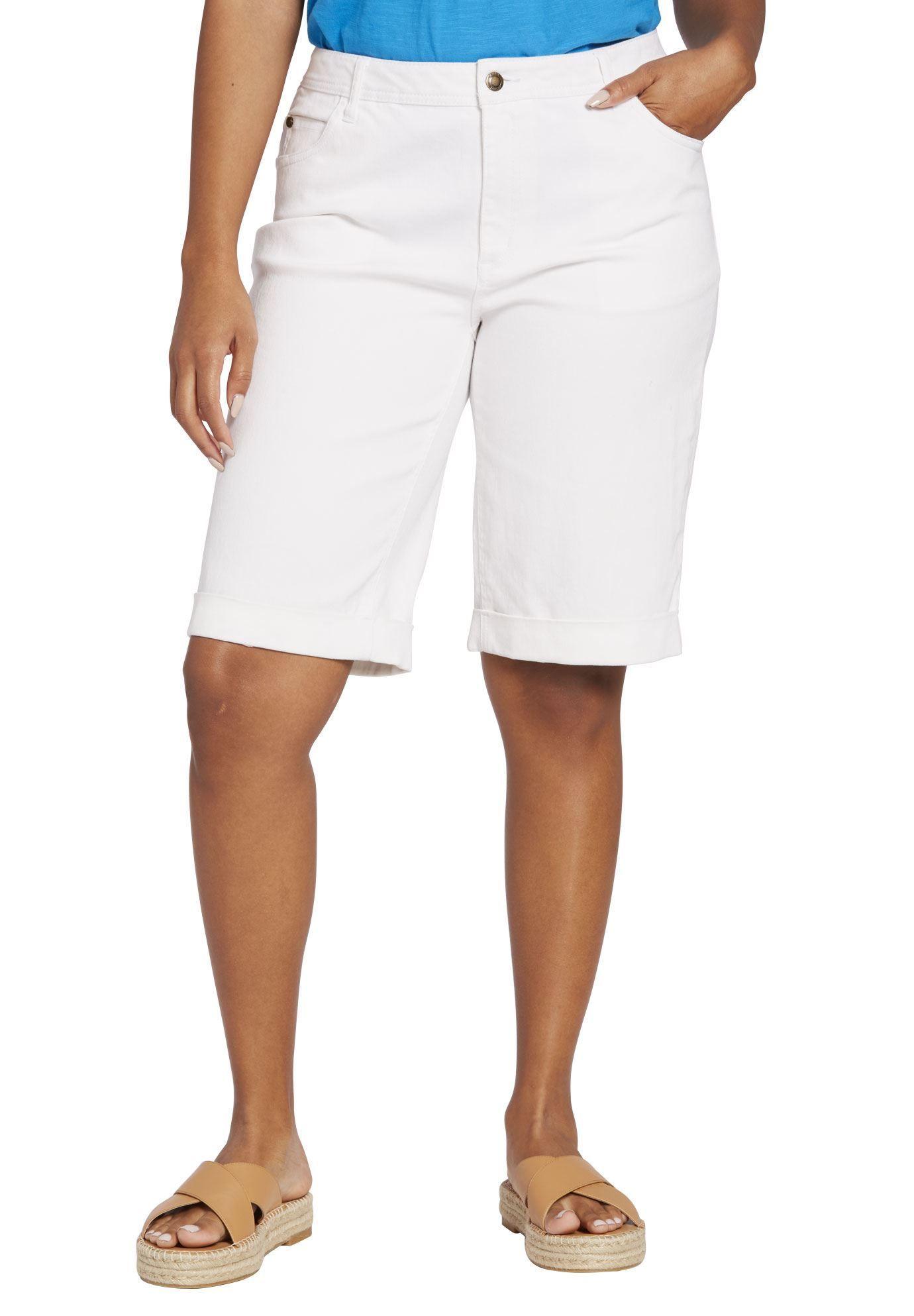 bbd697d4777 Stretch Jean Bermuda Short - Women s Plus Size Clothing