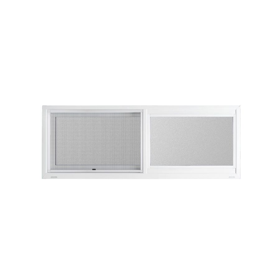 Shop Jeld Wen V2500 Left Operable Vinyl Double Pane Double Strength New Construction Sliding Window Roug Sliding Windows Small Bathroom Remodel Window Fitting
