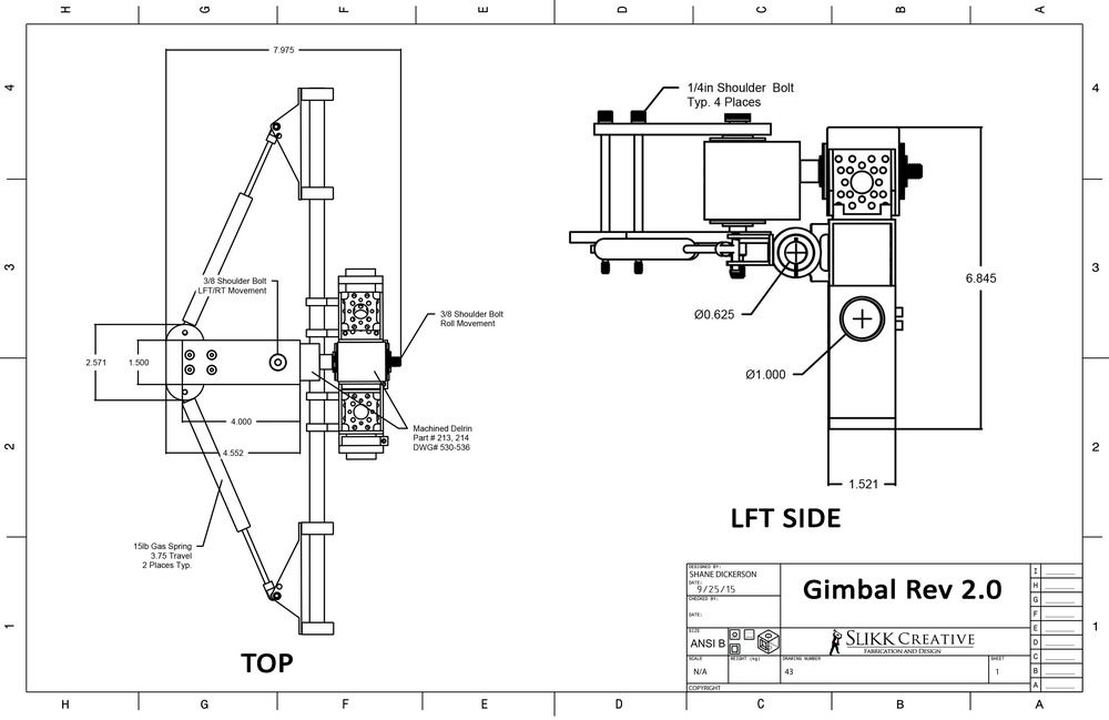 blueprint using ANSI B template, just for practice. Top