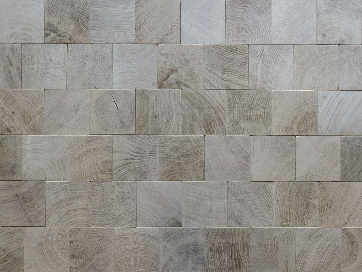 Vers De Bois Parquet - oak parquet set in a running bond tile pattern, with grey oil and was finish Wow Hausbau