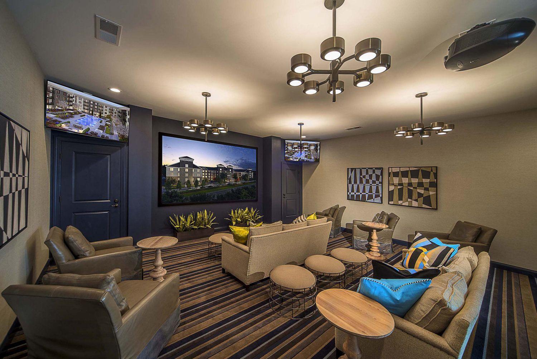 Berkley Clubhouse Theater Room Interior Design Interior Home Decor
