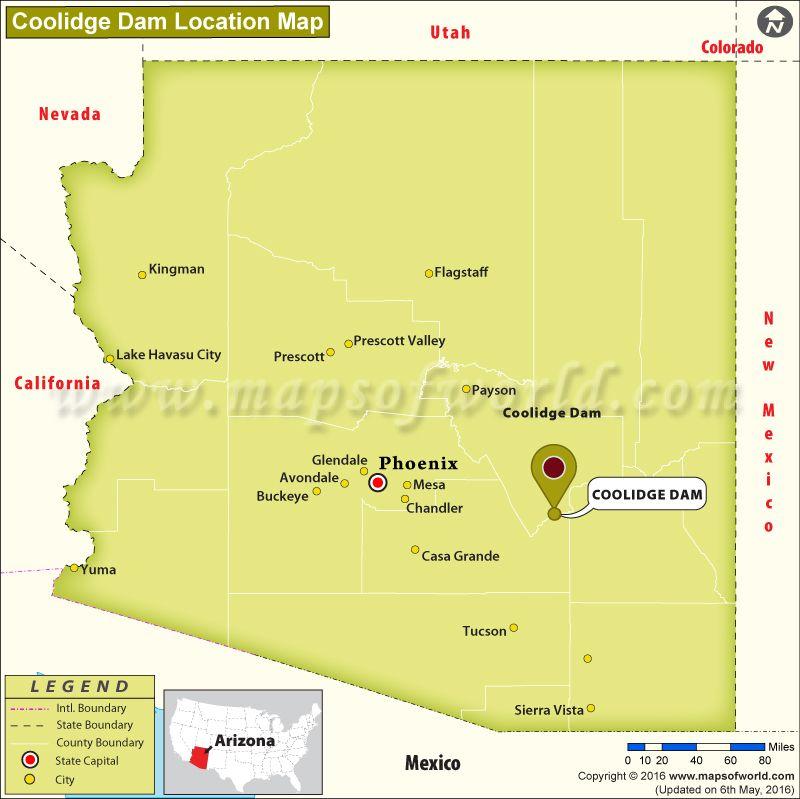 Where Is Coolidge Dam Located In Arizona World News Pinterest - Where is arizona