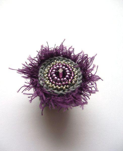 Häkelring Flauschring Von Crochetjewels Auf Dawandacom