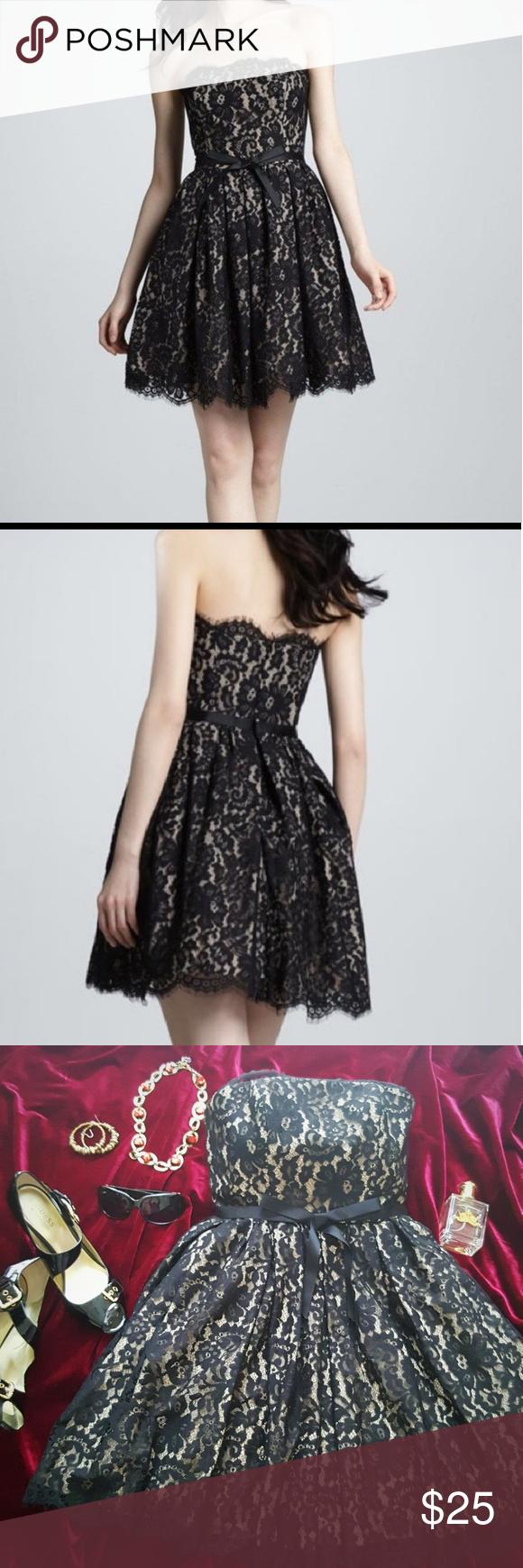 Black dress neiman marcus - Neiman Marcus Robert Rodriguez Black Party Dress Neiman Marcus Robert Rodriguez For Target Black Beige Lace