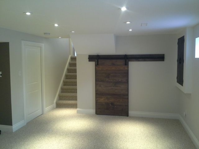Sliding Barn Style Door Used To Cover The Crawl Space Built By