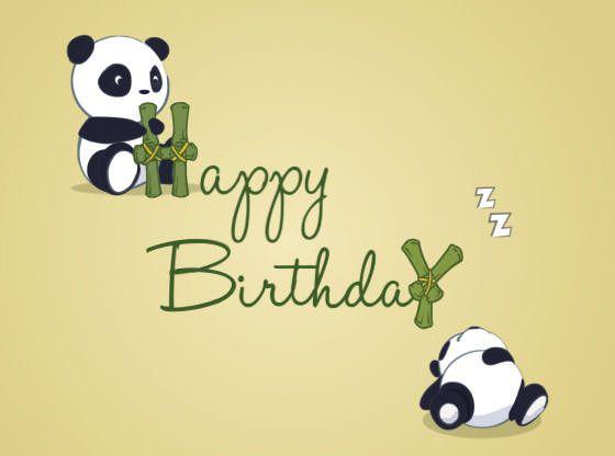 Panda Geburtstag Geburtstagskarte Alles Gute Zum Geburtstag
