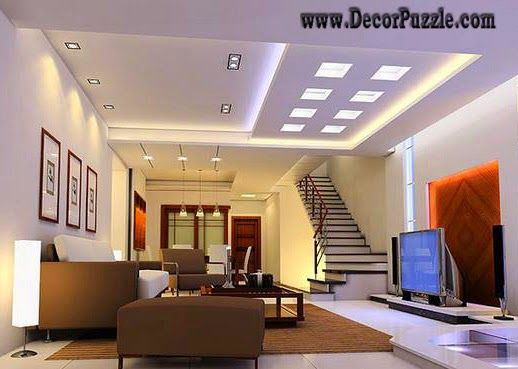 get the best and latest ideas for led ceiling lights and lighting for false ceiling pop design and gypsum ceiling lights for all room and all types of - Living Room Led Ceiling Lights