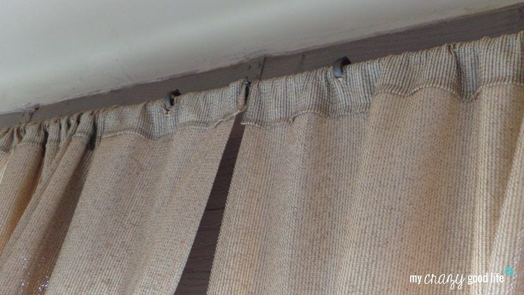 DIY Outdoor Curtains: Slits for curtains