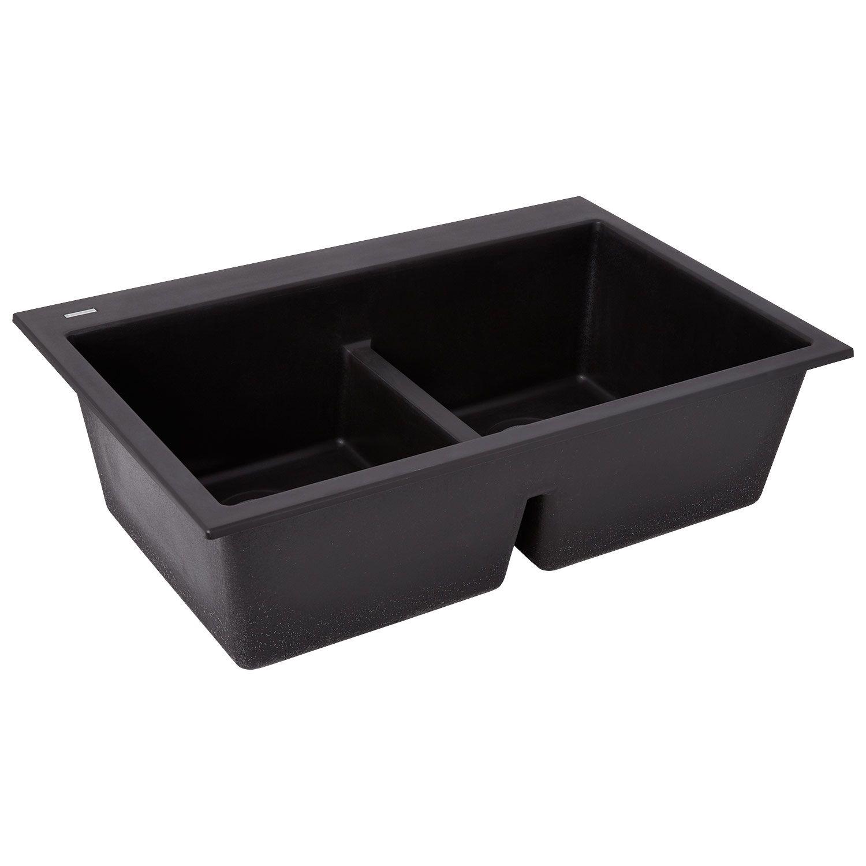 33 algren doublebowl undermount granite composite sink