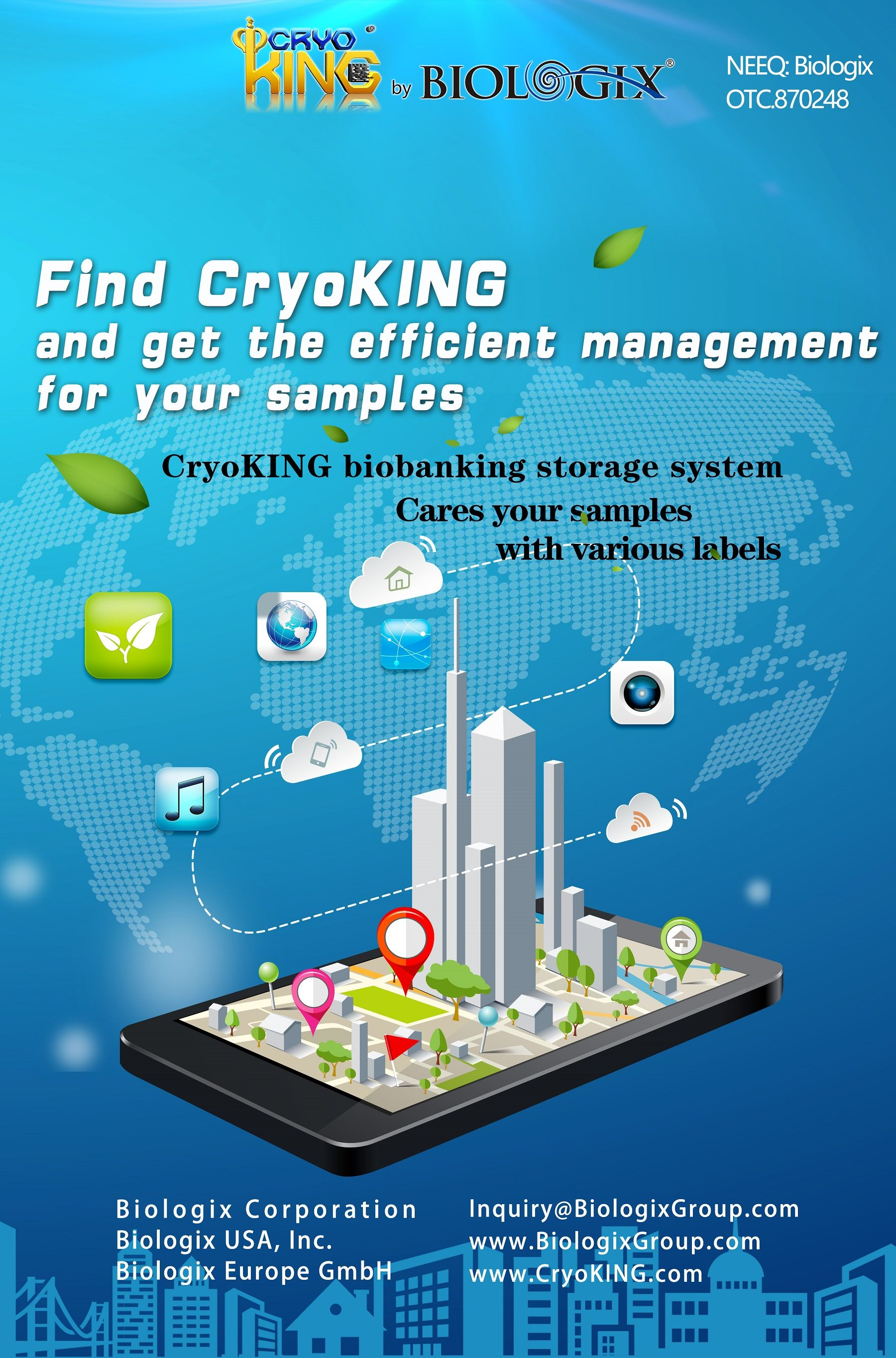 Cryoking Biobanking Storage System Cares Your Samples With