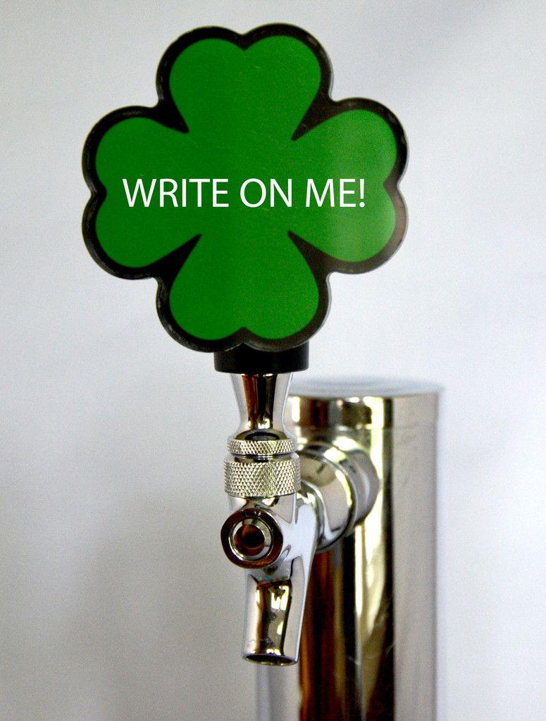 Writeable Clover Leaf Faceplate that works with the Switch Tap interchangeable handle.