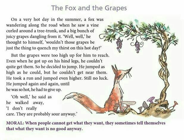 the fox and the grapes summary